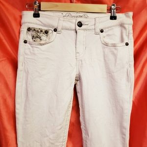 Juniors white Request Skinny Jean's